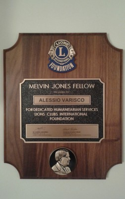 Il Melvin Jones Fellow ALESSIO VARISCO (Presidente del Lions Club Carate Brianza Cavalieri)